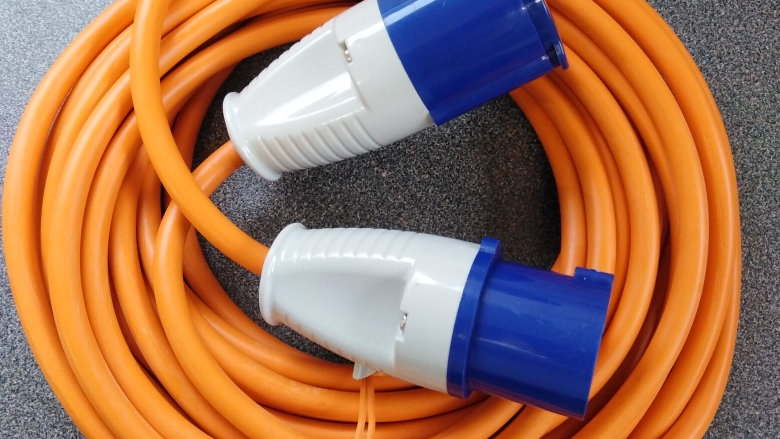 10m 240v 16amp Mains Electrical Hook Up Lead