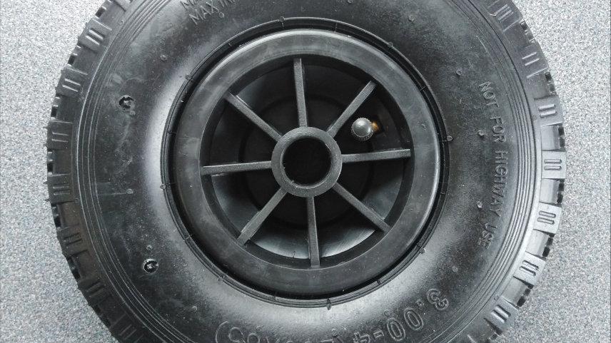 Pneumatic Jockey Wheel for Caravan or Trailer 260x85