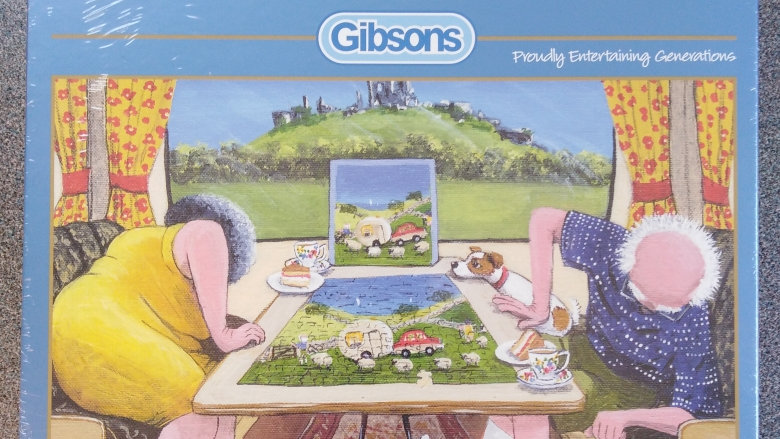 """""""The Missing Piece"""" Caravan Jigsaw Puzzle 500 Piece By Gibsons"""