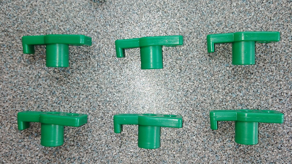 10 x Replacement Rock Peg Plastic Top - Green