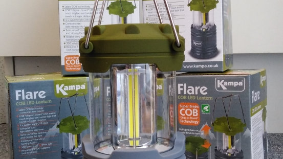 Kampa Collapsible 3 COB LED Flare Lantern