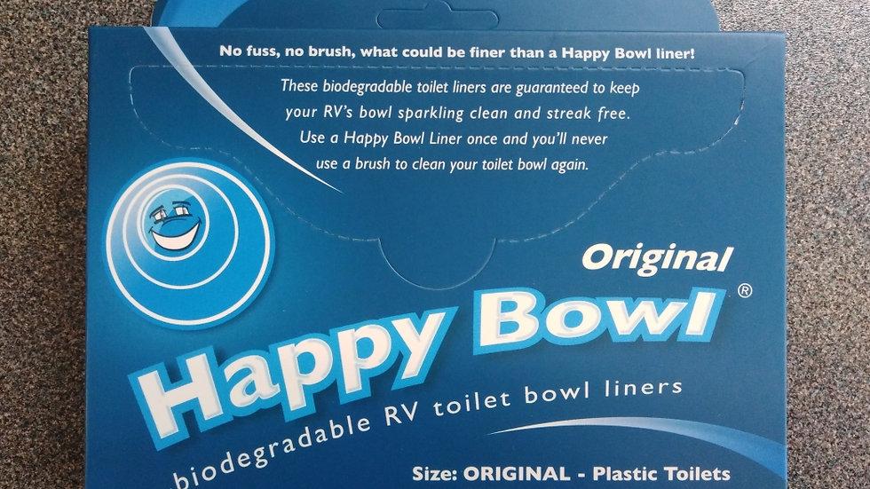Happy Bowl Caravan and Motorhome Toilet Bowl Liners x 50