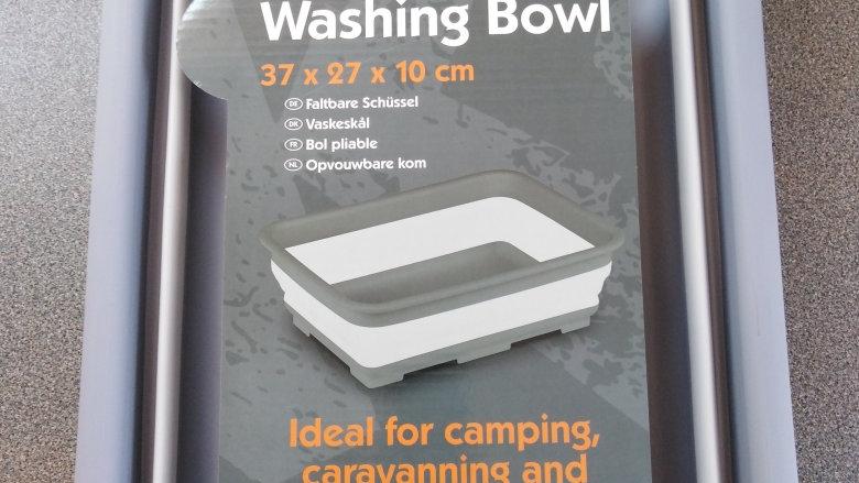 Kampa Collapsible Rectangular Washing Up Bowl Grey