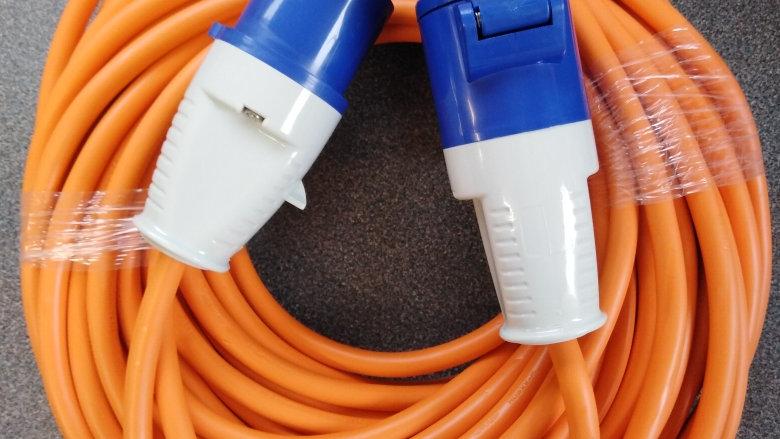 25m 240v 16amp Mains Electrical Hook Up Lead