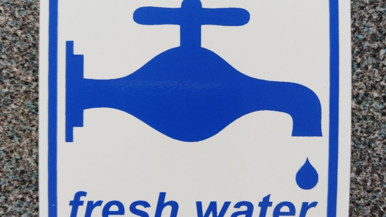 Fresh Water Sticker for Campervan, Motorhome or Caravan