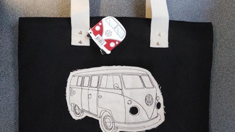 Volkswagen Campervan Canvas Shopping Bag