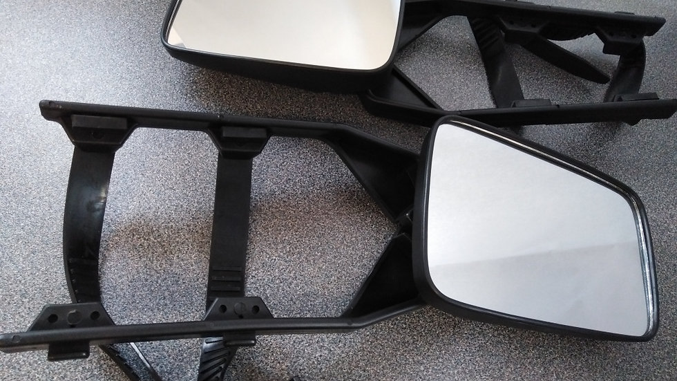 Caravan Towing Mirrors with Flat Lens -Pair