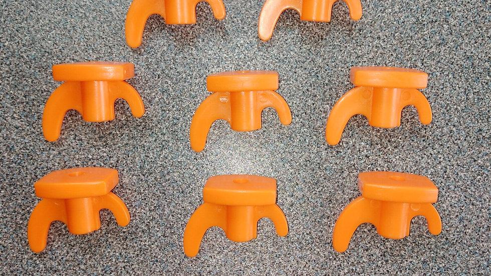 10 x Replacement Rock Peg Plastic Top - Orange Hook