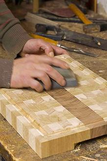 Etape de fabrication planche à découper en bois de bout
