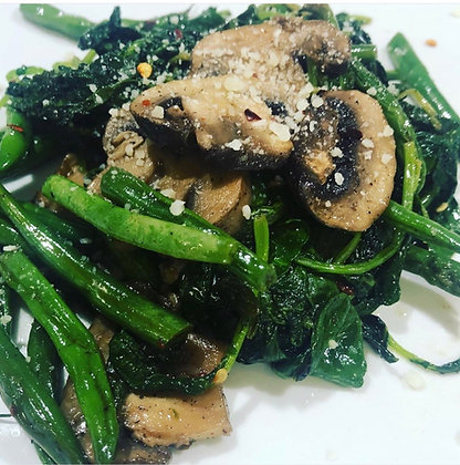 Green Beans with Kale & Mushrooms - Half Pan