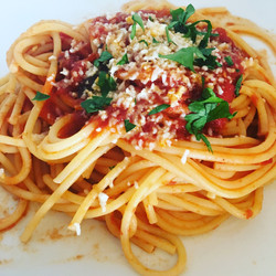 Spaghetti with Tomato Basil