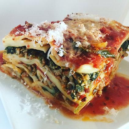 Beef & Spinach Lasagna