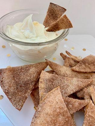Homemade Cinnamon Chips & Dip