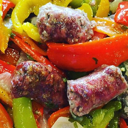 Sausage and Peppers - Half Pan