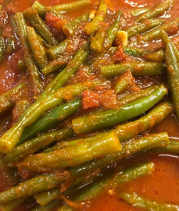 Green Beans with Tomatoes - Half Pan