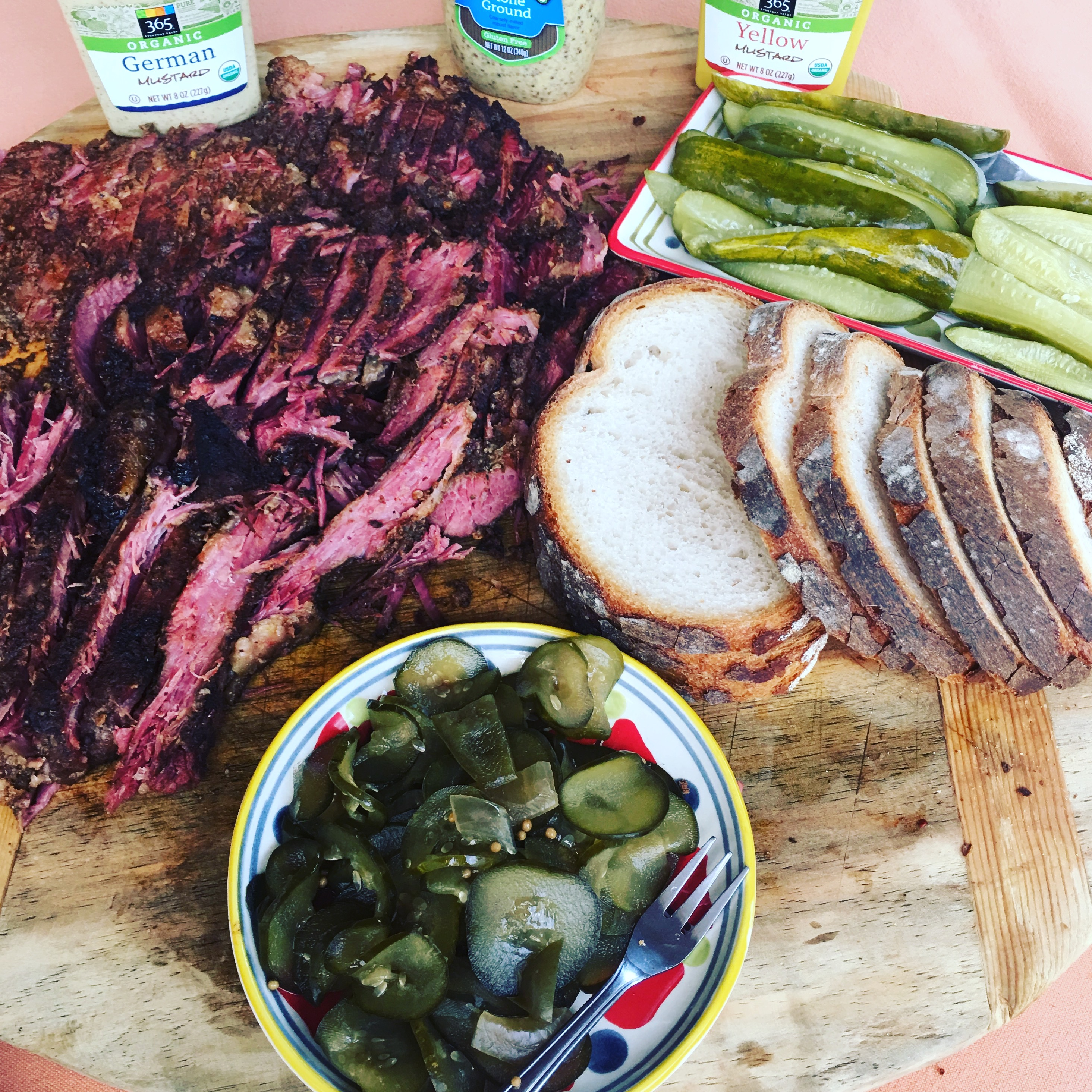 Homemade Pastrami & Butter Pickles