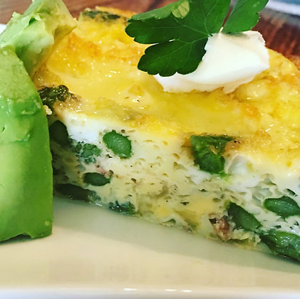 Asparagus & Guyere Frittata