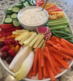 Veggies with Homemade Ranch