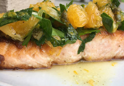 Salmon with Citrus Salsa Verde