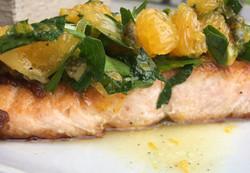 Salmon with Citrus Salsa Verde