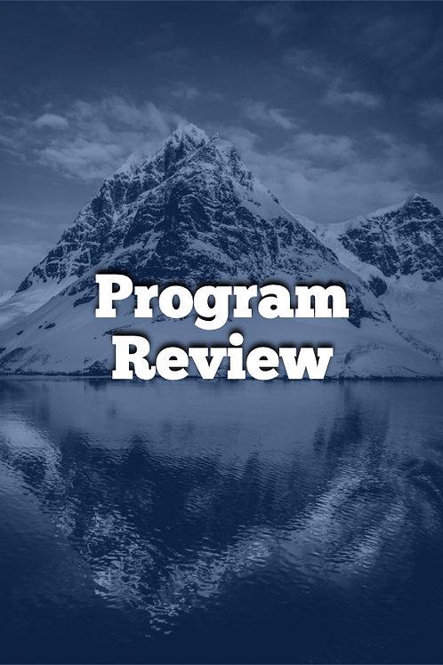 Week 12 - Program Review & Self Assessment