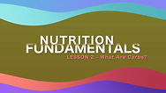 Lesson 18 - Nutrition Fundamentals - Wha
