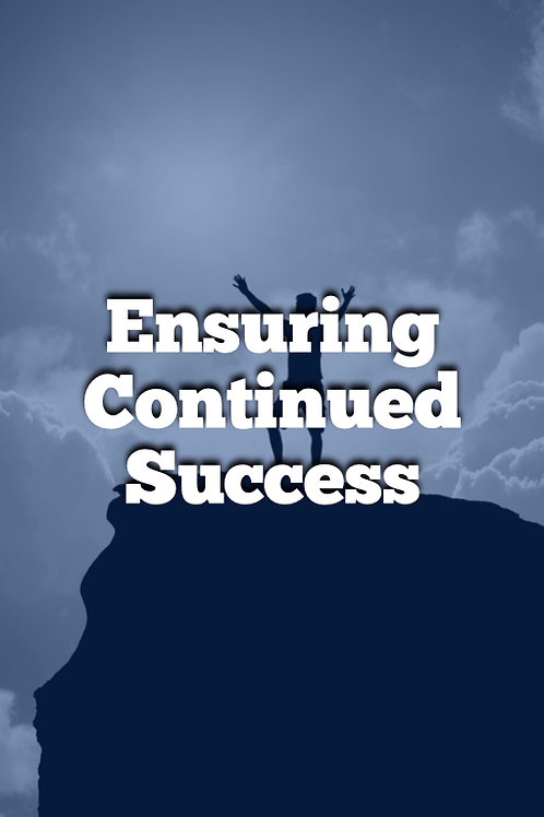 Week 11 - PDF Course - Ensuring Continued Success