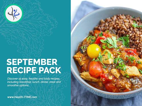 September 2020 Recipe Pack