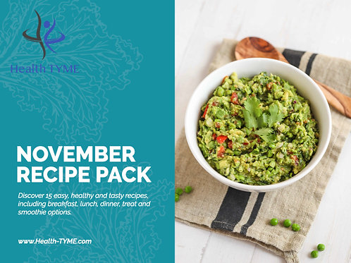November 2020 Recipe Pack