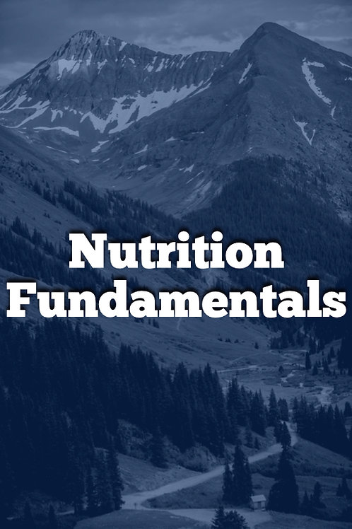 Week 5 - PDF Course - Nutrition Fundamentals