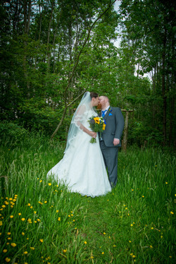 Mr & Mrs in the woods