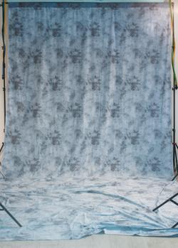 Муслиновый голубой фон (светлая сторона)