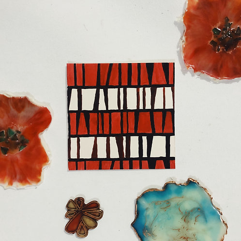 Blank Handpainted Cards (Abstract Art)