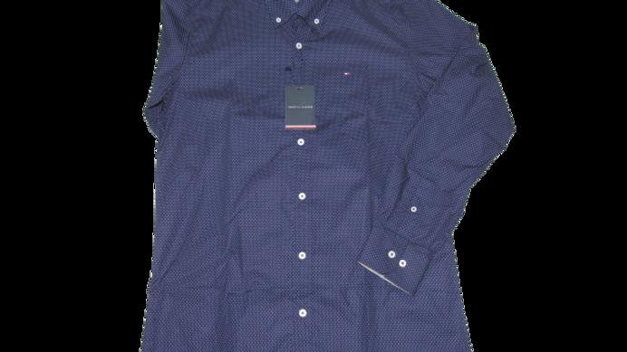 Camisa Social Tommy Azul Marinho