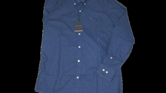 Camisa Social Tommy Azul Mesclado