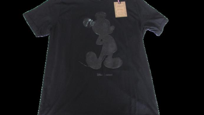Camiseta Malha Peruana Mickey Black