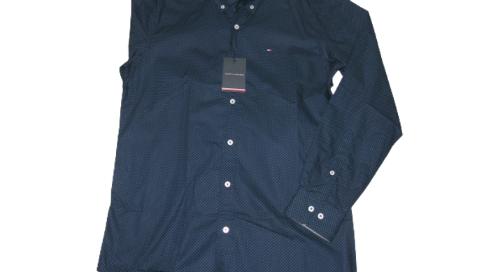 Camisa Social Tommy Azul Petróleo