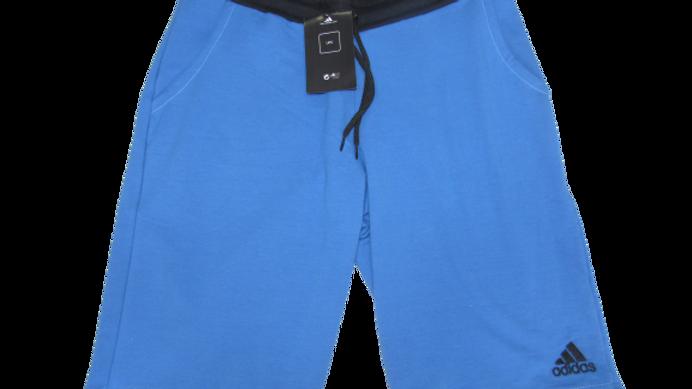 Bermuda de Moletom Adidas Azul