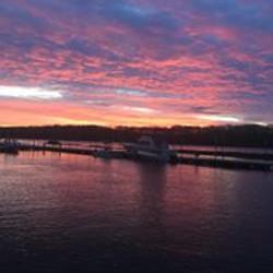 dock sunset