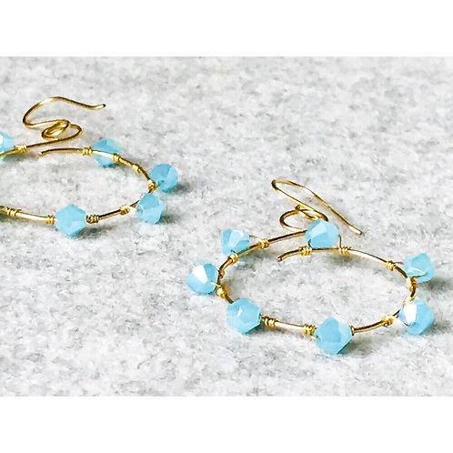 Aqua Swirl Earrings