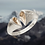 Thumbnail: Loving Heart Silver Ring