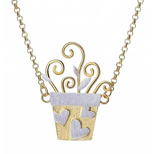 Loving Flower Pot Necklace