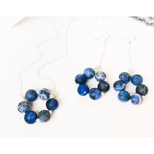 Blue Sodalite Statement Necklace