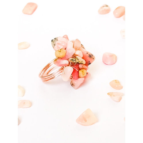 Pink Opal Statment Ring
