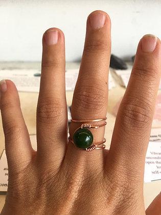 Jade Adjustable Ring