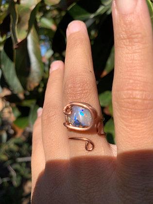 Opal Adjustable Ring 04