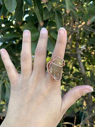 Rutilated Quartz Adjustable Ring