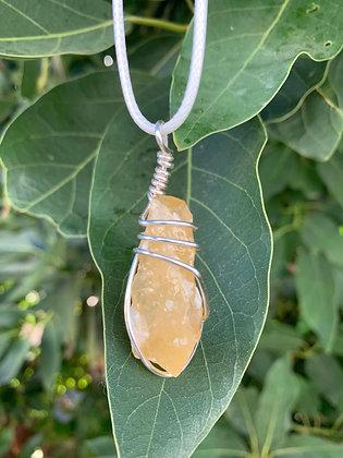 Orange Calcite Necklace