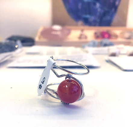 Carnelian Adjustable Ring