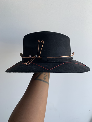 Protect Yo Crown Black Pyrite Hat